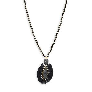 Pannee Fringed Marquis Beaded Necklace